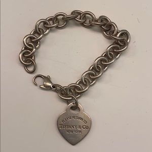 Tiffany & Co heart charm bracelet
